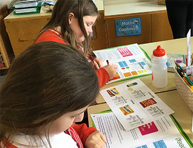 Children learning about nutrition